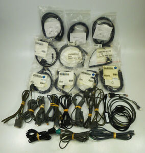 Lot Of 25x Assorted Barcode Scanner Pos System Cables Usb Serial Ethernet