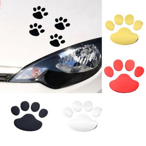 Car Sticker 3d Cat Paw Dog Claw Pets Prints Window Bumper Vinyl Reflective Decal