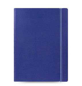 Blue Filofax A4 Size Refillable Leather look Ruled Notebook Diary Gifts Fashion