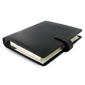 Filofax A5 Metropol Organiser Planner Notebook Diary Book Black Leather Fashion