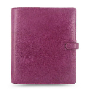 Filofax A5 Size Finsbury Organiser Planner Diary Book Raspberry Leather 025371