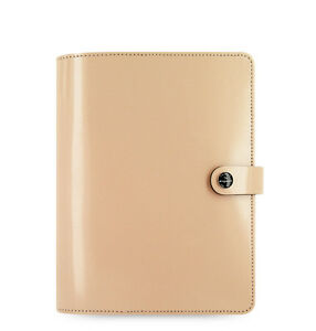 Filofax A5 Original Organiser Planner Notebook Diary Book Nude Leather 022387