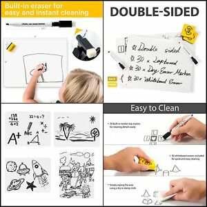 Dry Erase Boards 3white Boards Eraser For Back To School Teachers Students Kids