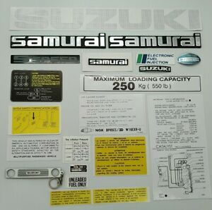 Suzuki Samurai Emblems And Decals gray