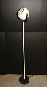 Vtg Robert Sonneman Kovacs White Eyeball Mid Century Modern Floor Lamp Orb Light