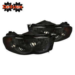 02 05 Dodge Ram 1500 2500 3500 Smoked Tinted Headlights W amber Reflector Sport