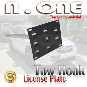 Racing Style Tow Hook License Plate Mount Kit For 01 11 Toyota Prius