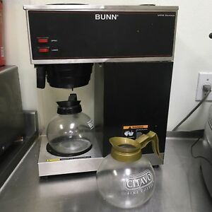 Bunn Commercial Coffee Maker Vpr Series Stainless Steel 33200 0001 Made Usa