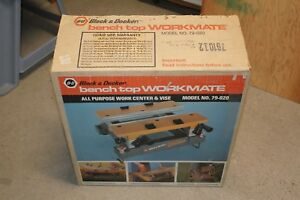 New Black & Decker Model 79-020 Tilting Bench Top Workmate Work Center Vise