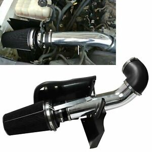 4 Cold Air Intake System Kit Heat Shield For 99 06 Gmc Chevy V8 4 8l 5 3l 6 0l