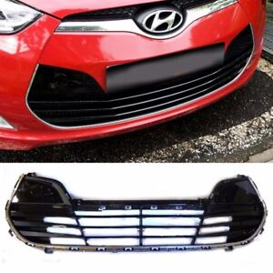 Front Bumper Lower Grille Glossy Black Oem Parts For 2011 Veloster