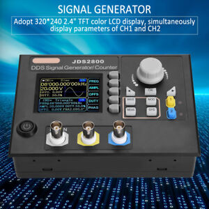 Jds2800 Dual channel Dds Function Arbitrary Waveform Signal Generator Software