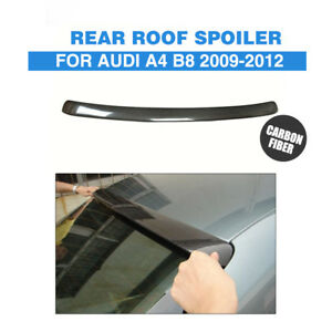 Fit For Audi A4 B8 09 12 Abt Style Rear Roof Trunk Spoiler Wing Lip Carbon Fiber