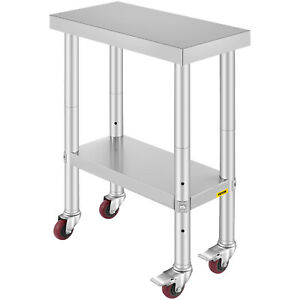 24 x12 Kitchen Stainless Steel Work Table Restaurant Utility For Food Handling