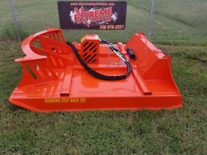 72 Xbc 8 Extreme Skid Steer Brush Cutter 3 Blade Double Flywheel piston Drive