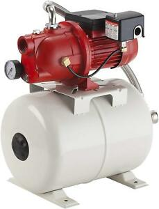 Shallow Well Jet Pump And Tank Package Cast Iron Pump With Pressure Tank 5 8 Gal