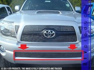 Gtg 2005 2011 Toyota Tacoma 1pc Polished Overlay Bumper Billet Grille Grill