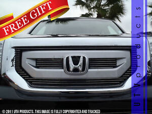Gtg 2009 2011 Honda Pilot 3pc Polished Upper Overlay Billet Grille Grill Kit