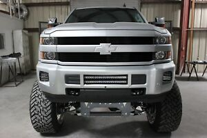 Gtg 2015 2019 Chevy Silverado 2500 3500 Hd 2pc Black Custom Billet Grille Kit