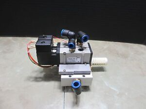 Smc Dual Valve Unit Vfs2120 3eb 02 Cnc Edm 2 Pieces Plus Base Supermax Ycm fv56a
