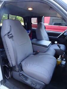 1998 2001 Dodge Ram Quad Cab 1500 3500 Front Exact Fit Car Seat Covers In Gray