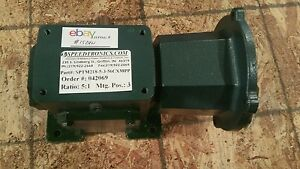 Speedtronics Gear Speed Reducer Worm Box Sptm218 5 3 56cxmpp 5 1 Ratio 1524w