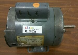 Century Ac 1 3 Hp Electric Motor 1 Single Phase J56 2216sr