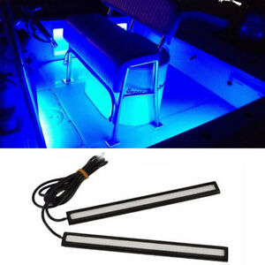 Boat Car Waterproof Blue Marine Led Light Courtesy Utility Strip Dc 12v 2pcs