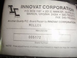 Miller Welder Pc Circuit Board card Assembly Part 005172