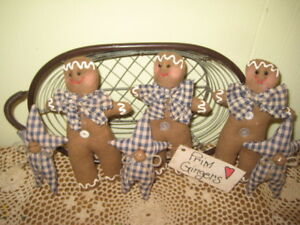 Primitive Country Christmas Gingerbread Stars Bowl Fillers Handmade Home Decor