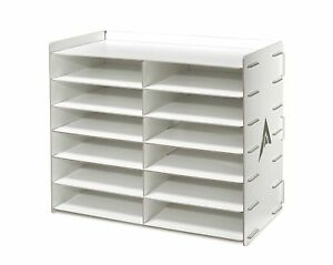 Adiroffice Wood Literature Organizer Sorter Heavy Duty File Storage Ideal