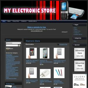 Electronic Store Turnkey Affiliate Website Dropship Free Domain