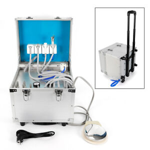 Dental Portable 4h Unit system Metal Mobile Delivery Rolling Case air Compressor
