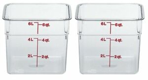 Cambro 6sfscw135 Camsquare Food Storage Containers Set Of 2 6 quart