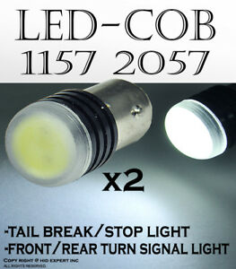 Cree 1157 2057 5w White Led Replace For Rear Turn Signal Light Halogen Bulb 450d