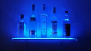 Led Liquor Shelf And Bottle Display Programmable Shelving Includes Wireless