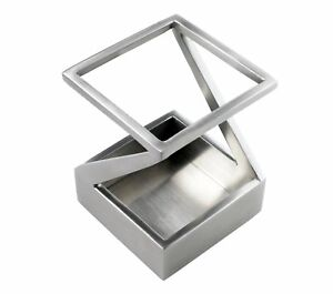 Artsondesk Modern Art Pen And Pencil Holder St203 Stainless Steel Satin Finish
