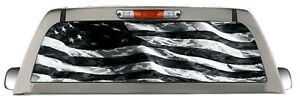 Bw American Flag Back Window Truck Decal Perforated Sticker Rear Window Wrap