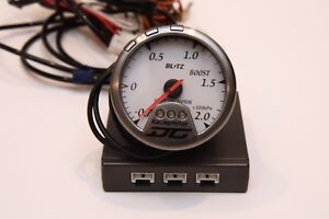 Blitz Na Racing Meter Dc Turbo Boost Gauge Psi