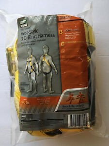 Safety Works Vest Style 3 D ring Harness