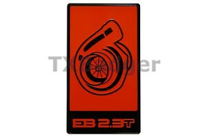 Mustang Ecoboost Eb 2 3t Grille Trunk Badge Emblem Red Txbadger