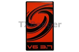 Mustang Cyclone V6 3 7 Grille Trunk Badge Emblem Red Txbadger
