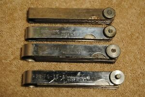 4 Vintage Feeler Gauge Sets Perfectionist 1622 Cornwell Allied Fg 25 Rb fg 35a