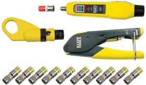 Klein Tools Coax Installation And Testing Kit Connector Universal Electrical