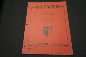 Oliver Model Row Crop 70 Operating Instructions Model Oem Authentic Original