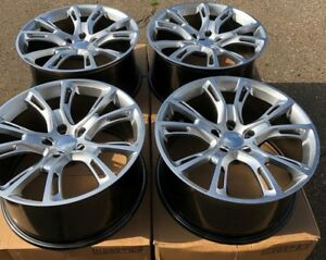 Set Of Four 4 20 X10 Wheels Rims Fit Jeep Grand Cherokee Srt 8 Style Silv New