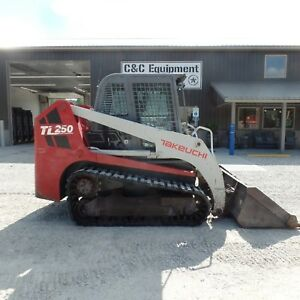 2009 Takeuchi Tl250 Tracked Skidsteer Cab Good Shape Video Nice Bottom