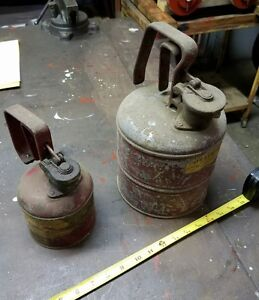 Old Safety Gas Cans Set