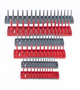 Socket Storage Trays Organizer Holder Rack Wrench Tool Box Sae Metric 6 Pc Set