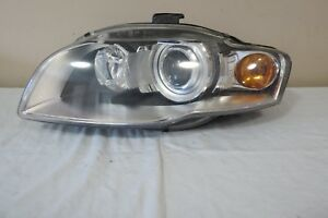 06 07 08 09 Audi A4 S4 Xenon Hid Complete Headlight Left Driver W Afs Oem